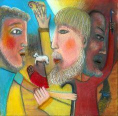 prodigal son art | ... The Prodigal Son Painting - Return Of The Prodigal Son Fine Art Print