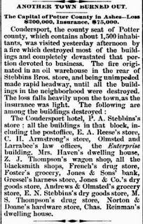 Genealogical Gems: On This Day: Fire claims much of Coudersport