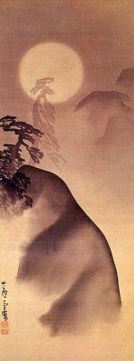 長沢芦雪 Rosetu Nagasawa『月夜山水図』 頴川美術館蔵