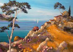 Paysage de Provence peint par Roger Keiflin artiste de la Galerie du Pharos
