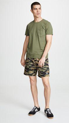 Mens Classic Elastic Waist Drawstring Work Shorts Trouses Slim Fit Straight-Leg Pants with Pocket Transer