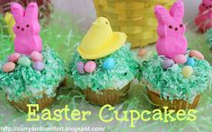 Curry and Comfort: Easter Peep and Bunny Cupcakes