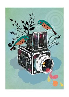 Vintage Camera Hasselbladart print by sevenstar on Etsy, $21.00