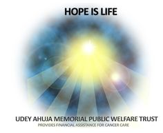 Udey Ahuja Memorial Public Welfare Trust provides financial assistance for Cancer Care to needy Patients. 10% proceeds of the Lucky Draw to be donated to the Trust. Corporates wishing to make Donations separately can claim 100% Tax Exemption Under 35AC & 80GGA.