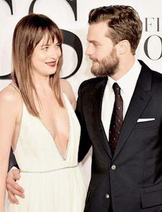 Dakota Johnson and Jamie Dornan at Fifty Shades of Grey London Premiere on February 12th, 2015.