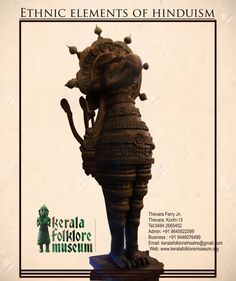Wooden Sculptures, Hindu Art, Art And Architecture, Folklore, Kerala, Museum, Movie Posters, Film Poster, Museums