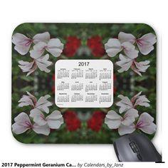 2017 Peppermint Geranium Calendar by Janz Mousepad