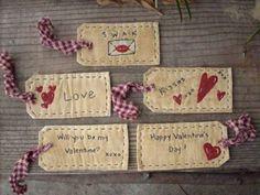Valentines Tags Stitchery