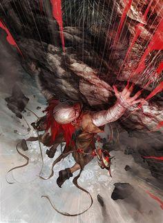 Maskemane 06, Aleksi Briclot on ArtStation at http://www.artstation.com/artwork/maskemane-06