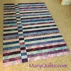 jelly roll race variations - Would like to do this with two angled piece strips, so it looked like an indentation