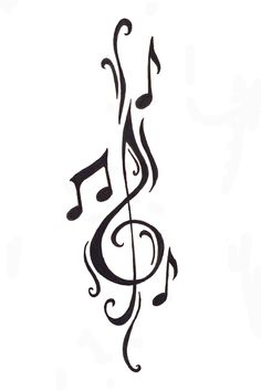 Cleft note with music notes Free Designs Music Notes Tattoo Wallpaper Zimg Winged Music Tattoo Designs, Music Tattoos, Body Art Tattoos, Sleeve Tattoos, Cool Tattoos, Tatoos, Music Designs, Arm Tattoos, Music Related Tattoos