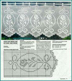 Crochet Art, Crochet Home, Thread Crochet, Crochet Motif, Crochet Doilies, Crochet Stitches, Filet Crochet Charts, Crochet Borders, Doily Patterns