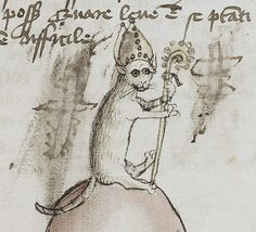 Bishop Cat  Fables, Germany 15th century (LA, The J. Paul Getty Museum, Ms. Ludwig XV 1, fol. 48r)