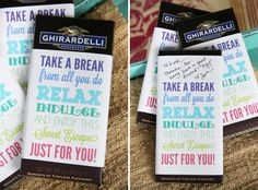 Printable Chocolate Bar Wrappers