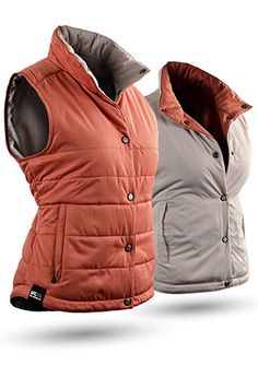 Reversible for 2015, the Alpine Golf Vest is one of Sun Mountain's most popular women's style and is constructed with a soft, windproof, microfiber fabric. Its lightweight, quilting, and weather-blocking, stand-up collar, make the Alpine ideal for cool weather.  #winter #outerwear #lorisgolfshoppe