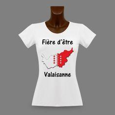 T-Shirt mode dame - Fière d'être Valaisanne - Frontières 3D https://www.apprentiphotographe.ch/shop/fr/t-shirts-dame-fiere-d-etre/476-t-shirt-slim-moulant-pour-femme-fiere-d-etre-valaisanne-frontieres-3d.html