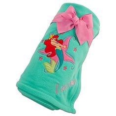 Ariel Fleece Throw - Personalizable | On Sale | Disney Store | Official Site for Disney Merchandise | Disney Store