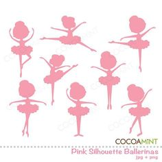 Little Ballerina Silhouette Clipart Ballerina Silhouette, Silhouette Clip Art, Ballerina Birthday Parties, Little Ballerina, Big Girl Rooms, Partys, Party Time, Diy And Crafts, Projects To Try