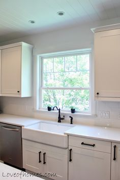 A Kitchen Remodel loveofhomes.blogspot.com  Love that farmhouse sink and faucet