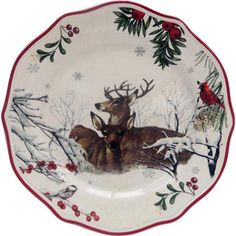 Better Homes and Garden Christmas Dishware with Deer