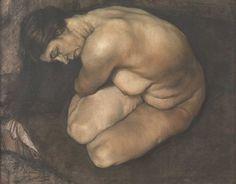 Austin Osman Spare | Crouching Nude | Pastel