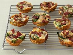 Get Food Network Kitchen's Mini Spinach and Mushroom Quiche Recipe from Food Network