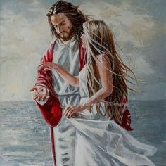 """""""Take My hand"""" Original Fine Art Painting by Maria Magdalena Oosthuizen. Medium: Acrylic on Canvas. Stretched and Blocked, Not Framed. Jesus Christ Painting, Jesus Art, Paintings Of Christ, My Jesus, Art Paintings, Braut Christi, Pictures Of Jesus Christ, Jesus Wallpaper, Bride Of Christ"""
