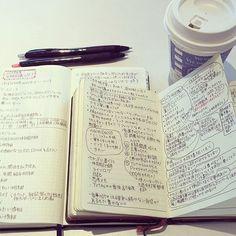 #カフェとノート部 です。 おはようございます。 遅いスタートですが…#手帳会議 始めました。 今年の案件は、『ほぼ日のメモページをもっと活用したい!』です。 毎年、白紙のページが残ってしまいます。 もっと自由度を上げて気軽にいろいろ書きたい。 でも、何書く?…と頭の中でグルグルしています。 毎年言ってますが…やはりこの時間はとても楽しいです #能率手帳 #ほぼ日weeks #ほぼ日手帳weeks Japanese Handwriting, Journal Pages, Stationery, Bullet Journal, Notes, Study, Scrapbook, Personalized Items, Journaling