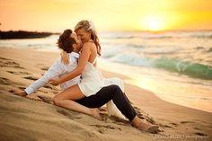 wedding beach photo
