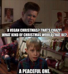 How vegans celebrate christmas: peaceful / vegan meme / vegan humor / vegan lifestyle / veganism