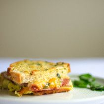 Baked Ham and Cheese Breakfast Sandwich | Sprig and Flours