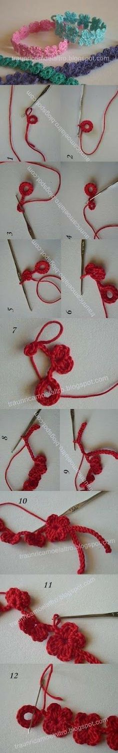 Sweet and easy-to-make Crochet bracelet.