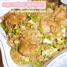 Ripped Recipes - Egg Fried Quinoa - If you love egg fried rice and you're a fan of quinoa, then you'll love this recipe!   I decided to substitute the rice for quinoa to make a high protein, low carb post workout meal.