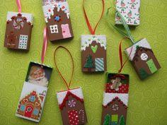 easy Gingerbread House Ornaments DIY