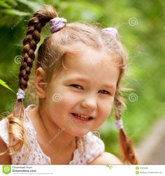 little-funny-girl-pigtails-outdoors-summer-day-31624465.jpg (1300×1390)