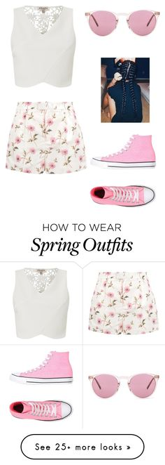 """Spring Outfit"" by pizza-lover02 on Polyvore featuring Lipsy, RED Valentino, Converse and Oliver Peoples"