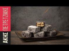 Lamingtons από τον Άκη Πετρετζίκη. Τα παραδοσιακά αυστραλέζικα γεμιστά, μικρά κέικ που γεμίζουν με μαρμελάδα και καλύπτονται με κακάο και τριμμένη καρύδα!