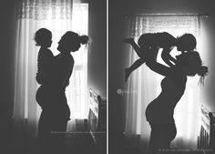 silhouette idea- not the kid or pregnancy