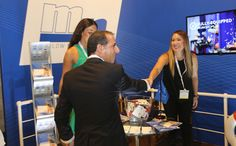 Cyprus' Minister of Transport, Communications and Works, Marios Demetriades visits the Marlow stand @ #MaritimeCyprus2015