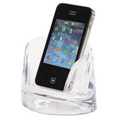 Sleek acrylic phone holder from the stratus collection by swingline.