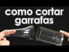 Como cortar garrafas de vidro usando barbante (experiência + artesanato) - YouTube