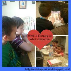 Raising Samuels Homeschool: Week 7: Focusing on What's Important