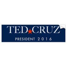 Ted Cruz Bumper Sticker Car Bumper Sticker