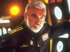b09fa23c Sean Connery as he appears in The Hunt for Red October. Great film (I HATED  the book) and an intensely gorgeous Sean!