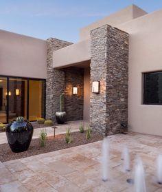 Modern House Facades, Modern House Plans, Modern Architecture, Entrance Design, House Entrance, Modern Entrance, House Front Design, Modern House Design, Modern Exterior
