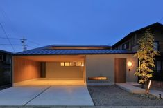 Modern Contemporary Homes, Japanese House, House 2, Home And Living, Facade, Garage Doors, Exterior, House Design, Architecture