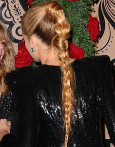 Blake kind of abuses the braid, but it does look good on her...
