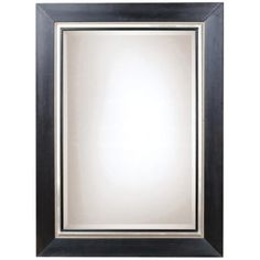 "Uttermost Whitmore 54"" High Black and Silver Wall Mirror - #38123 