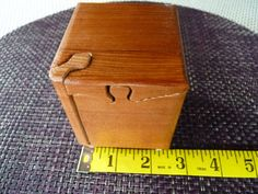 Itty Bitty puzzle box. Handcrafted 4 Piece Mini Redwood Puzzle Box by Geneswoodnstuff, $10.00