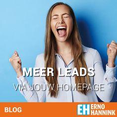 Meer leads via de homepagina van je website met dit ene doel.
